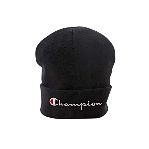 Champion Reverse Weave Beanie Cap, Gorro de Punto Unisex Adulto Negro (Nbk Kk001)