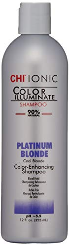 CHI Ionic Color Illuminate Shampoo, Platinum Blonde, 12 FL Oz