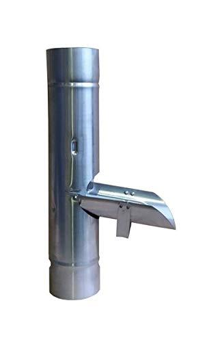 Zink Regenrinne Regenwasserklappe mit Sieb 100 mm Mit fester Arretierung der Wasserklappe