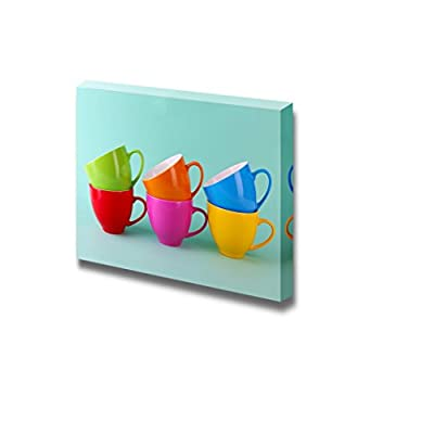 Canvas Prints Wall Art - Still Life Small Cute Colorful Cups | Modern Wall Decor/Home Decoration Stretched Gallery Canvas Wrap Giclee Print & Ready to Hang - 16