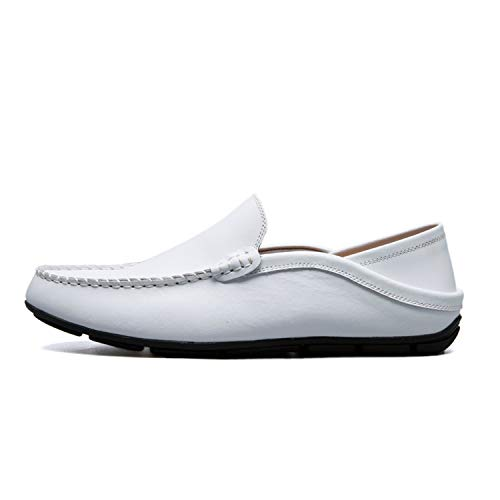 Fanatical-Night Slip On Flat Boat Shoes Male Classical Chaussure Homme Size 37-47,White,10