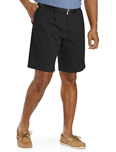 Dockers Big and Tall Men's Double Pleat Shorts Black Shorts