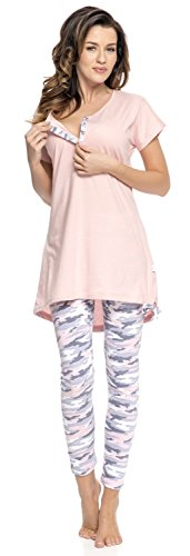 Rosa Set nightwear dn Donna Coordinato IFxnwgwOZq