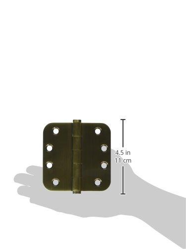 Home Improvement Deltana DSB4R55 Solid Brass 4-Inch x 4-Inch x 5//8-Inch Radius Hinge Top Notch Distributors Inc.