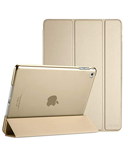 ProCase iPad Mini 4 Case - Ultra Slim Lightweight Stand Case with Translucent Frosted Back Smart Cover for 2015 Apple iPad Mini 4 (4th Generation iPad Mini, mini4) -Gold