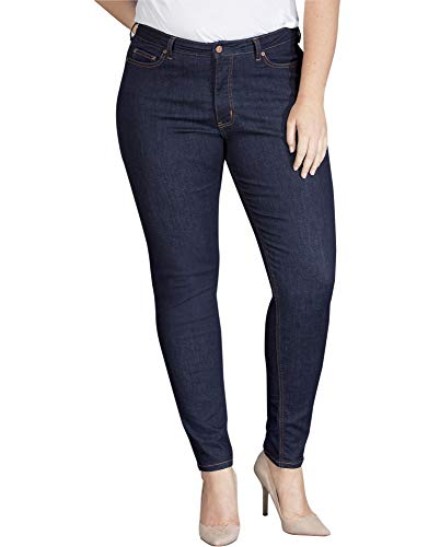 Dickies Women's Perfect Shape Denim Jean-Skinny Stretch Plus Size, Rinsed Indigo Blue, 22WRG