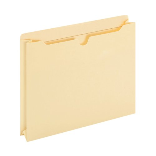 Globe-Weis/Pendaflex 100% Recycled File Jackets, Reinforced Tab, 2-Inch Expansion, Letter Size, Manila, 50 File Jackets Per Box (24920R)
