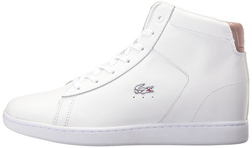 Lacoste Women's Carnaby Evo Wedge 317 3 Fashion Sneaker, White, 5.5 M US
