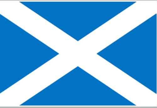 Annin Nylon Scotland (St. Andrew) Flag, 3-Foot by 5-Foot