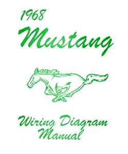 31gOXGLOQKL._SY300_ amazon com 1968 ford mustang wiring diagrams schematics automotive 1968 ford mustang wiring diagram at soozxer.org