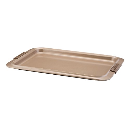 Anolon Advanced Bronze Nonstick Bakeware 10-Inch x 15-Inch Cookie Pan with Silicone Grips ()