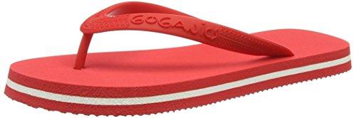 Goganics Bicolour - Sandalias Unisex adulto Rojo