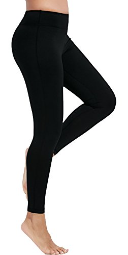 Olacia Womens High Waisted Workout Leggings Pants for Women No See Through Soft Yoga Pants Plus Size Capri Black Running Sports Athletic Exercise Clothes With Pockets xl Fitness Best Gym Spandex Pants Lycra Workout Pants