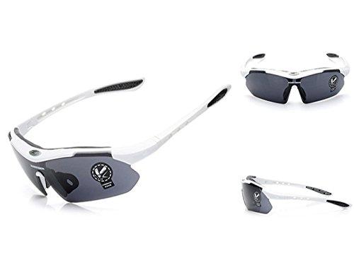 Jon Senkwok Polarized Sunglasses For Men with Sport Fishing Driving (White, - 365 Sunglasses