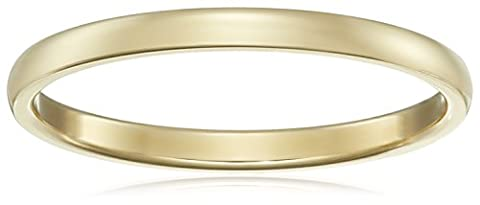 Classic Fit 14K Yellow Gold Band, 2mm, Size 8 - 14k Gold Classic Wedding Band