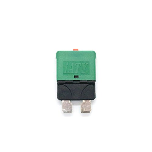 (WINOMO 30A Circuit Breaker Trip Fuses Standard Blade Fuse With Manual Reset for Car Truck)