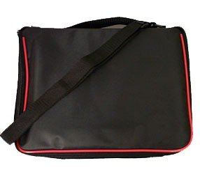 Small Collector Lapel Pin Bag - 5 Page Black w/Red Piping