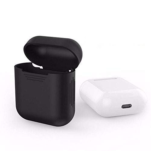 HUMBLE Silicone Shockproof Protective Case Cover for Apple Airpods (Black)