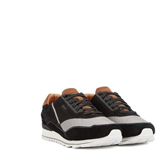 Hugo Boss Men's Zephir Black Memory Foam Sneakers Shoes Sz: 11