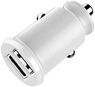 ミニ急速充電デュアルUSB車の充電器、LEDブルーライトインジケーター隠された急速充電器、携帯電話の機種や他の機器のAバラエティに適し,白