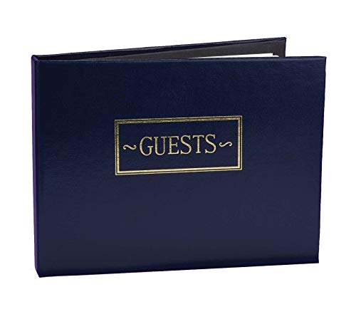 Hortense B. Hewitt Wedding Accessories Guest Book, Navy, 7.5-Inches x 5.75-Inches ()