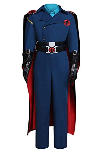MUCLOTH Cobra Commander Cosplay Costume Uniform Full Suit Outfit Male (XL) -