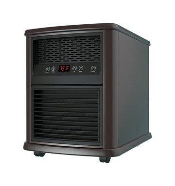 "Pelonis Infrared Quartz Heater Espresso 19.29 "" H X 15.75 "" W X 20.47 "" D 800 W Ace Trading Midea Infrared Heaters"