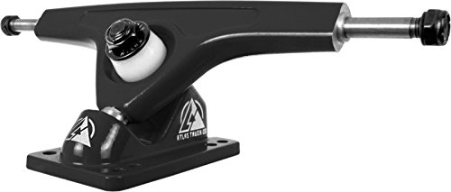 (Atlas Truck Co. Kingpin Ultralight Longboard Trucks, 180mm 48 Degree 8mm Reverse, Black (Set of 2))