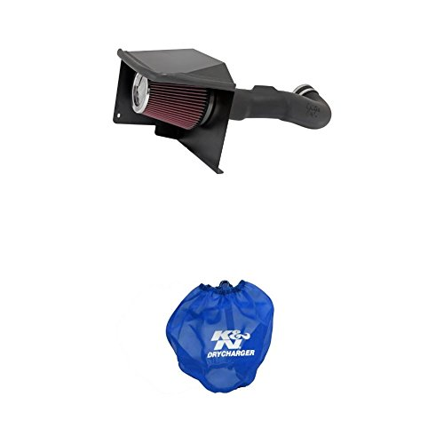 K&N 57-3070 Performance Air Intake System with Blue Air Filter Wrap