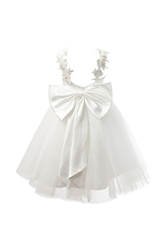 Miama Ivory Lace Tulle Backless Wedding Flower Girl Dress Junior Bridesmaid Dress by Miama (Image #5)