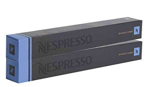- 20 Nespresso Capsules Vivalto Lungo Coffee