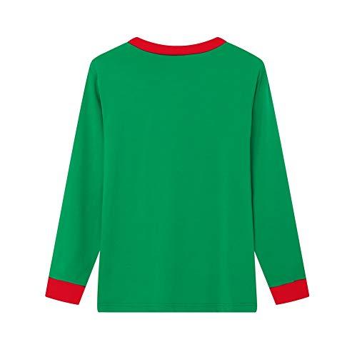 E Blaward Strisce Di Pantaloni Lunga Caldi Sleepwear Manica Famiglia Cime A Pigiama Set Lunghi Mammina Verde Vestiti Natale PS0Pnr7