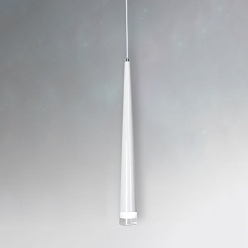 Decorative Cone Pendant Light - LED Cone Aluminum Pendant Lamp Post Modern Creative Personality Cylindrical Ceiling Light Bar Restaurant Hotel Cafe Single Head Rope Chandelier ( Color : White , Style : C )