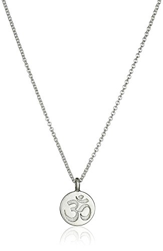 Dogeared Make a Wish Om Symbol Sterling Silver 16'' Plus 2'' Extender Necklace by Dogeared