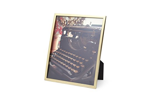 Umbra Senza Metal Picture Frame, 8 by 10-Inch, Brass
