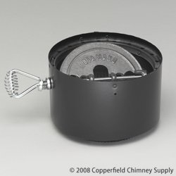 Chimney 69128 6 Inch Dura-Vent DVL Double-Wall Stove Adaptor With Damper Section (Duro Vent)
