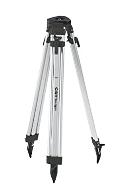 CST/Berger 60-ALQCI20-B 5/8-Inch 11-Threaded Flat Head Tripod, Black