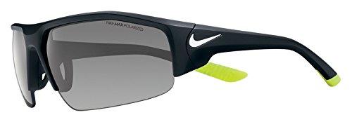 Nike EV0860-017 Skylon Ace XV P Sunglasses (One Size), Matte Black/White, Grey Polarized - Sunglasses Nike Polarized