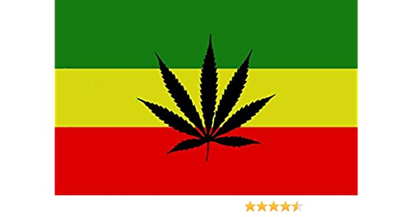 DURABOL Bandera de Rastafari marihuana flag 90x150cm SATIN: Amazon.es: Jardín