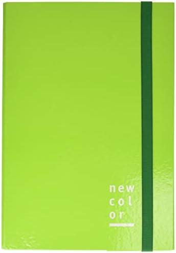 Dorso 2 New Color 0221302.GI Cartella con 3 Lembi ed Elastico Piatto Giallo 25 x 35 cm