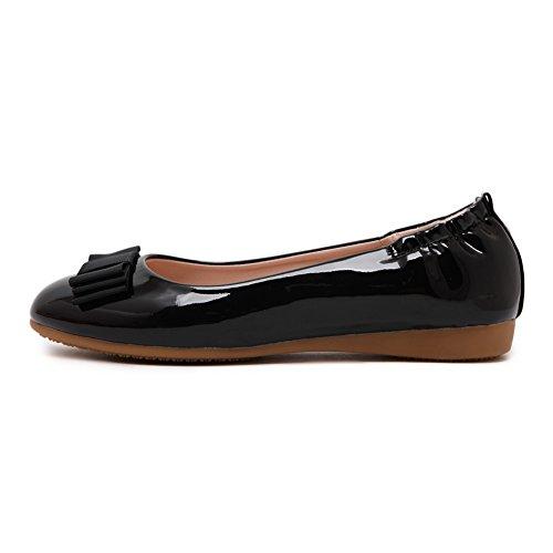 Shoes Dolly Flats Pumps Ballet Ladies School fereshte Women's Work On Comfy Slip 631Black Pn6x0q
