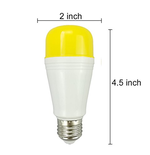 Amber Yellow Led Bug Light Bulb 2 Pack No Blue Outdoor