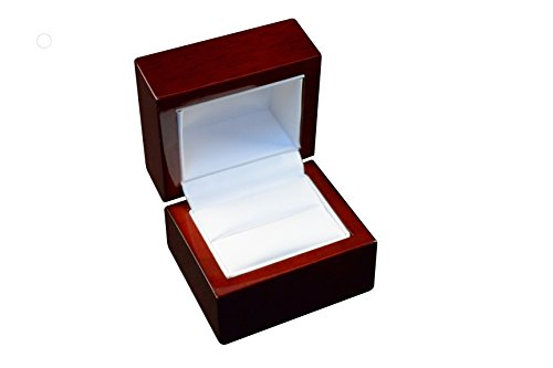 Accessory Jefferson Collection - Regal pak ® one-piece jefferson collection premium rosewood ring box 2 1/4