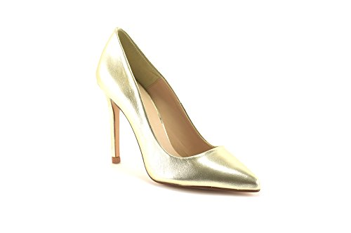 ConBuenPie by ENYA - New Collection - Salon de Piel Stiletto de Mujer Colores Plata y Platino Oro