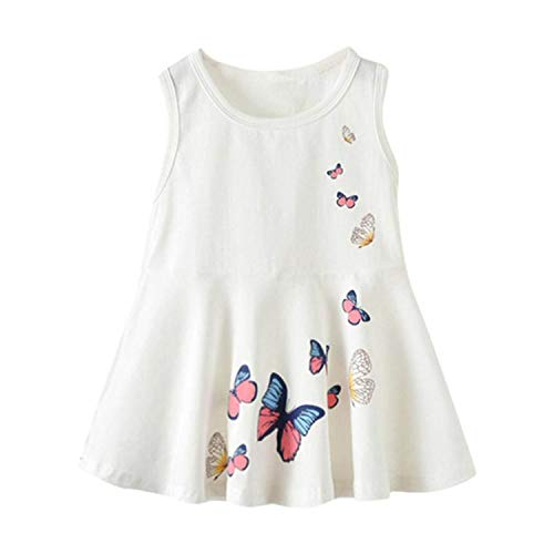 Baby Girls Infant Kids Butterfly Print Dress Clothes Sundress Casual Dresses