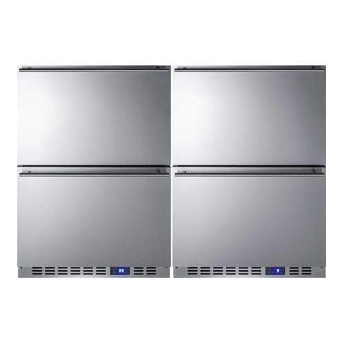 Summit CL2R248 frost-free all-refrigerator (Custom Overlay Panel Accepts)
