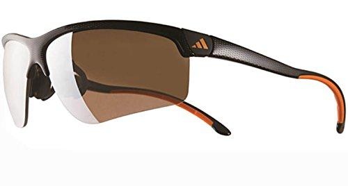 (アディダス)adidas adivista a165 (a165 S 6094) carbon print 6094 ブラックオレンジ ゴルフ サングラス a165 Sサイズ   B07B2R233K
