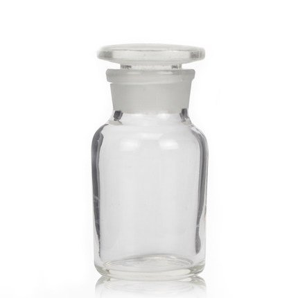 Lab Glass Reagent bottle, wide mouth,Frosted mouth, with ground stopper (30ml) Muhwa eCommerce Co. Ltd