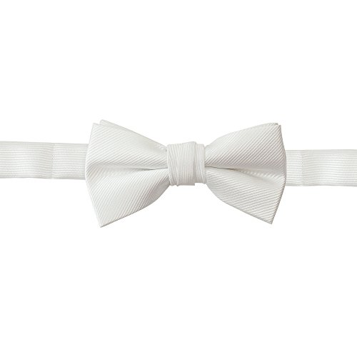 (Handmade Boys Bow Ties For Boys Woven White Kids Ties: For Wedding Graduation)