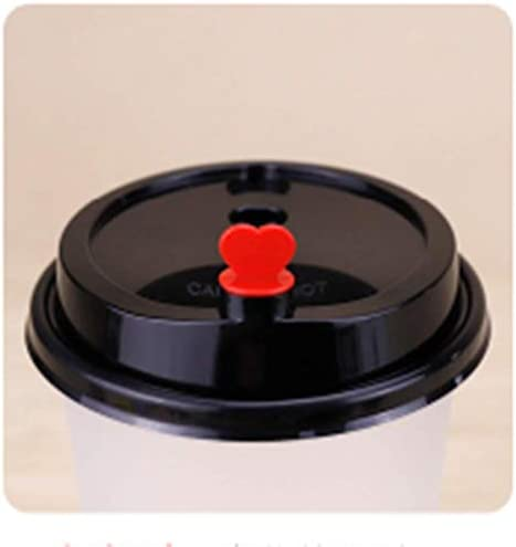 Beverage Plug Red Heart Shaped Stopper Plug for Disposable Lids Perfect for Coffee Shops Milk Tea Restaurant Takeout 500pcs